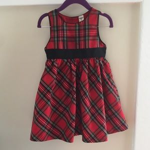 🆕 OshKosh Red and Black Plaid Party Dress 2T